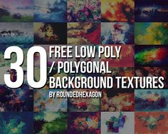 30-Free-Polygonal-Low-Poly-Background-Textures