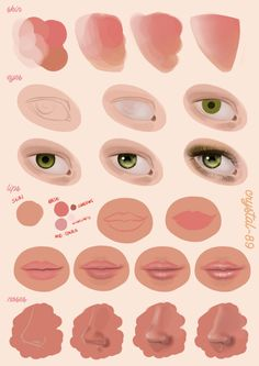 Digital Painting Tutorial - Facial Features by *crystal-89 on deviantART