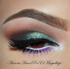 peacock looking makeup