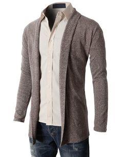 H2H Men`s Shawl Collar Cardigan With No Button - List price: $41.50 Price…