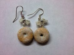 Tiny Sugary Ring Donut Earrings Miniature Food by Jellyfishjools, £6.50