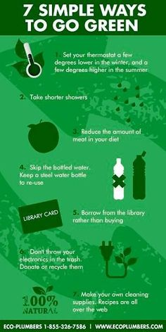 Conservation And Green Information On Pinterest Go Green