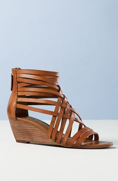 Hinge 'Neta' Leather Wedge Sandal (Women)   Nordstrom