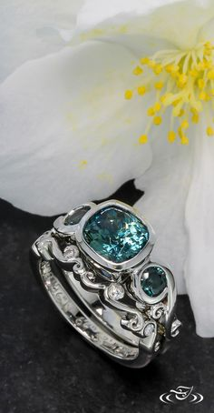 """""""Our designer Inae is Awesome- We had our engagement ring and both our wedding bands designed by #GreenLakeJewelry and the process was easy and #fun!"""" -Karin #AwesomeReviews"""