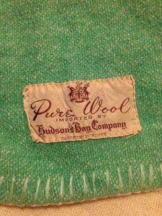 Vintage Hudson's Bay Company wool blanket label. .