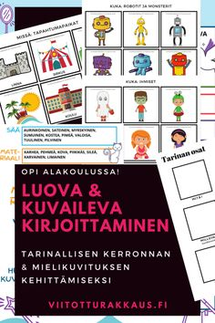 Satujen Taikaa - ViitottuRakkaus.fi Class Activities, Playing Cards, Writing, School Stuff, Classroom Activities, Playing Card Games, Being A Writer, Game Cards