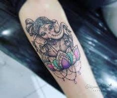 5 Thoughts You Have As Lotus Flower Ganesh Tattoo Approaches Buddha Tattoos, Forearm Tattoos, Body Art Tattoos, Tattoo Ink, Lotus Tattoo, Baby Tattoos, Love Tattoos, New Tattoos, Maori Tattoos