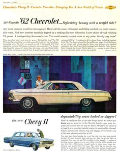 """The 1962 """"Jet-Smooth"""" Chevrolet."""