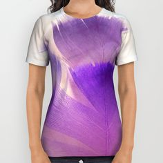 Our All-Over Print Shirts are 100% polyester, which wicks moisture and maintains a rich color quality. Each is meticulously designed by the Artist to ensure the artwork is perfectly laid out.      - Unisex sizing (women should choose one size smaller)   - 100% polyester with moisture-wicking qualities   - Produced by a sublimation process that may leave small portions of the fabric white