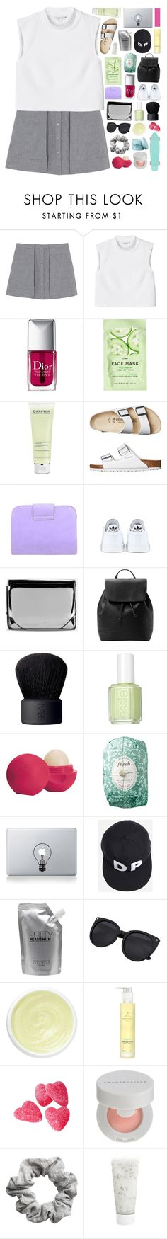 """""""daisy❁"""" by pheachy ❤ liked on Polyvore featuring T By Alexander Wang, Monki, Christian Dior, H&M, Darphin, Birkenstock, adidas, MM6 Maison Margiela, MANGO and NARS Cosmetics"""