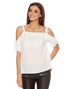 BLANCO BY QUIZ Top de crepe hombros descubiertos | SHOP ONLINE BLANCO.COM