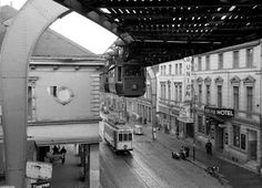 Hanging Trains Of Germany (Wuppertal) - oldest monorail in the world!