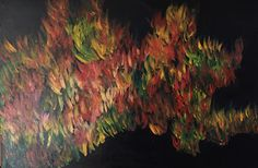 Autumn colours abstract painting