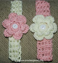 Crochet Headband with Interchangeable Flower        If you tell others about my work, please only link back to my blog, but don't copy my pattern to your site. Also you can sell anything you make from