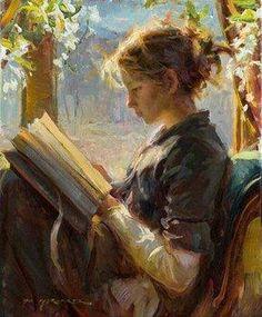 Daniel Gerhartz: mujer con libro