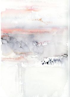 Buy Pink Sky, a Watercolor on Paper by Alex Tolstoy from United States. It portrays: Abstract, relevant to: pink, sky, clouds, abstract, gray abstract representing a pink and gray sky