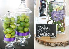 Lime Wedding Centerpiece