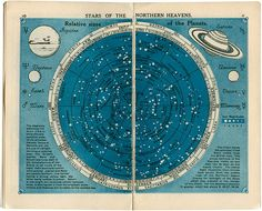 Map of the Northern Heavens from Stars At A Glance 1920.