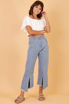 4f8df94a5a716 Calça Jeans Cropped Assimétrica - 03.02.0880 - Aquamar