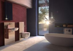 Freistehende Badewannen Was kostet es eigentlich Träume wahr werden zu lassen. Mut! Plane jetzt dein neues #Badezimmer mit allem was du dir wünschst.  Bildmaterial (c) Geberit