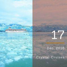 Dans le plus grand confort Crystal Cruises vous fera découvrir les régions les plus exceptionnelles comme l'Alaska l'Antarctique et le passage du Nord-Ouest. À découvrir sur seagnature.com #CalendrierdelAvent #AdventCalendar #croisière #vacances #voyage #seagnature #bateau