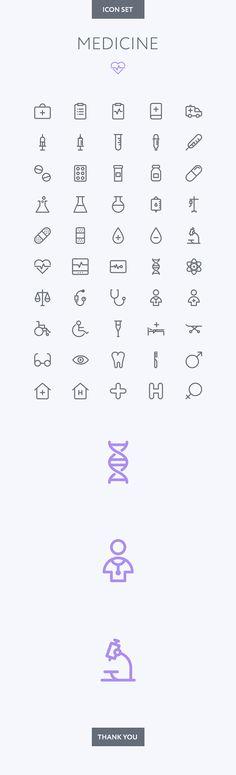 Medical icon set on Behance grafik illustration Medical Symbols, Medical Icon, Medical Logo, Medical Facts, Medical Laboratory, Medical Assistant, Medical Care, Web Design, Icon Design