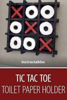 Tic Tac Toe Toilet Paper Holder #woodworking #decor #home