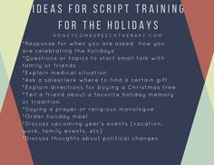 Adult Speech Therapy: Script Training Ideas for the Holiday! Make your speech therapy treatment functional and meaningful!