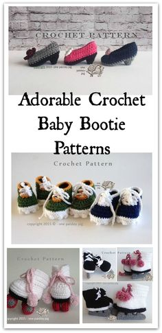 Check out these super cute baby booties that come in crochet and knit patterns. There are adorable pint size pumps,cleats, roller skates, hockey/figure skates and more. #ad #affiliate #crochet #knitting #pattern
