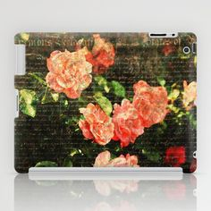 Vintage roses and scripts iPad Case by MJB photo design - $60.00