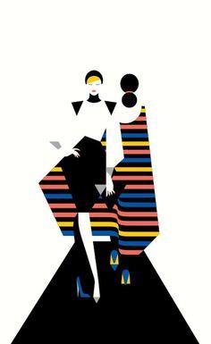 Flat Illustrations By Malika Favre