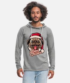 Merry xmas - merry Christmas - Merry - dog lover Unisex Lightweight Terry Hoodie   Spreadshirt Sweat Shirt, Sport T Shirt, Funny Nurse Quotes, Men Tips, Terry Towel, Baseball T, Retro Christmas, Merry Xmas, Custom Clothes