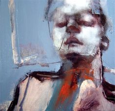 "Paul Ruiz ""Human Study Blue,"" 2009, oil on linen 31 x 31 cm"