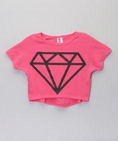 Another great find on #zulily! Pink Diamond Crop Top - Girls by American Kids #zulilyfinds