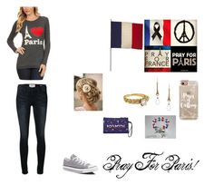 """""""Paris!!"""" by brianna-q ❤ liked on Polyvore featuring Casetify, Jayson Home, Frame Denim, Fred, Sophia & Chloe and Converse"""