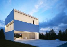 Fran Silvestre Arquitectos is a Spanish Architecture and Design Studio, formed by a group of professionals that are focus on residential, cultural. Box Architecture, Minimal Architecture, Concrete Architecture, Atrium House, Modern House Design, House Plans, House Styles, Instagram, Behance