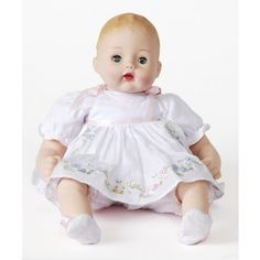 Pretty Pinafore Huggums Baby Doll - Baby Collection - Baby Dolls