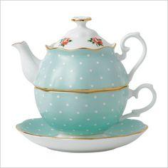 Polka Rose Tea for One Royal Albert