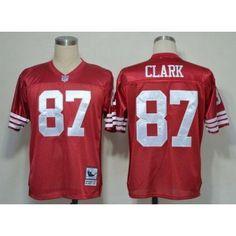 0ffa243c5 San Francisco 49ers  87 Dwight Clark Red Throwback Men