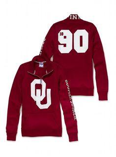 University of Oklahoma Half-Zip Pullover - Victoria's Secret PINK - Victoria's Secret- perrrrfect GO OU!