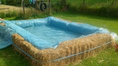 homemade pool | This photo of an improvised hay pool was taken by Orla Moriarty.