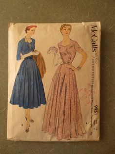 Vintage McCall's 9951 Sewing Pattern Sweetheart by sewbettyanddot