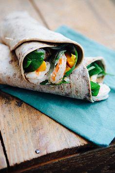 Some the Wiser: Shrimp and Mango Wraps