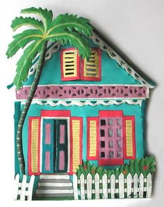 Key West Tropical Gingerbread House