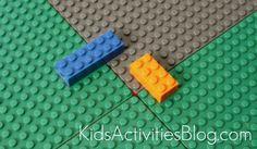 lego table using blocks