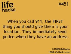 As a person who works for 911/dispatch the location is the most important thing and fighting to get it makes getting help slower...