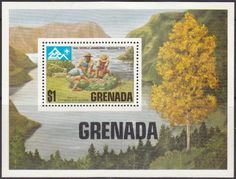 Grenada 1975 Norway Scout Jamboree Miniature Sheet Fine Mint SG 720 Scott 651 Other West Indies and British Commonwealth Stamps HERE!
