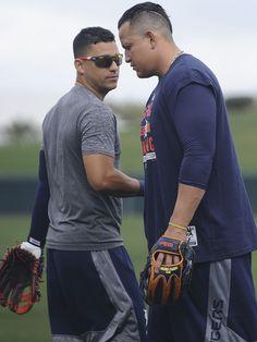 Jose Iglesias and Miguel Cabrera, Spring Training 2015