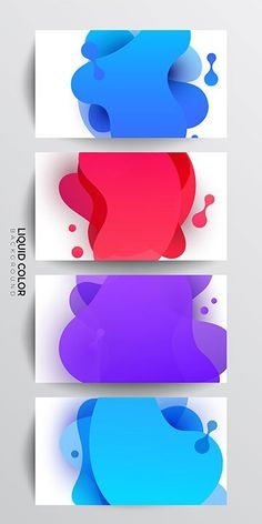 Free vector: Plastic liquid gradient waves - Landing Page Colletion & Free Download Bts Design Graphique, Banner Design Inspiration, Logos Retro, Banner Template, Presentation Design, Motion Design, Graphic Design Illustration, App Design, Vector Free