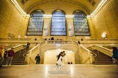 Classic Grand Central Terminal wedding portrait... Engagement photos?